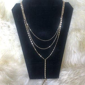 Long 3 chain necklace